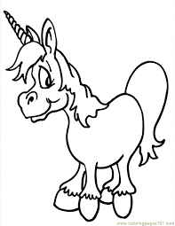 Small Picture Cute Unicorn 1 Coloring Page Free Unicorn Coloring Pages