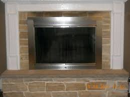 fireplace glass doors home depot innovative