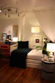 Single Bedroom Decoration Deluxe Small Bedroom Ideas With White Shade Valance Bed Decors For