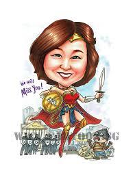2017 06 10 caricature singapore farewell gift boss