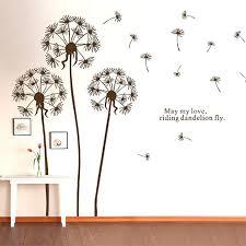 dandelion wall decal also dandelion wall sticker flower wall stickers for living room dandelion wall decals dandelion wall art flower home decor dandelion