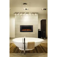 napoleon allure phantom 42 in wall mount electric fireplace with mesh screen