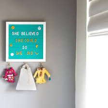 Felt Letter Board 10x10 With 3 Key Hangers 720 Changeable Letters Sleek Wooden Frame Unique Teal Color Wall Mount Hook For Messages Notes