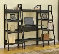 full image for enchanting leaning bookcase for desk 43 leaning bookshelf desk ikea ladder desk crate