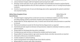 Social Work Resume Sample Cool Sample Resume Hospital Social Worker Career Advice Pro