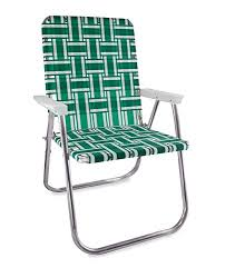 folding lawn chairs.  Lawn Lawn Chair USA Aluminum Webbed Deluxe Green And White With  Arms Intended Folding Chairs I