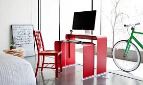 computer table design for office. OneLessDesk-Bright-Red Computer Table Design For Office