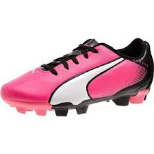 puma shoes pink and black. puma firm ground soccer cleats - adreno fg jr kids girls knockout pink shoes and black l