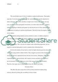 Causes And Effects Of Stress On College Students Essay