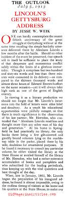 lincoln at gettysburg lincolns inspiration gettysburg address a study of the gettysburg address the outlook 1913