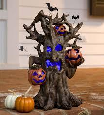 Outdoor Light Up Halloween Tree Lighted Spooky Tree Halloween Decoration Plowhearth