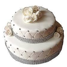 2 Tier Designer Fondant Cake Chocolate 5kg Gift 2 Tier Fondant Cake