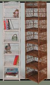tall narrow shelf for wicker bathroom storage