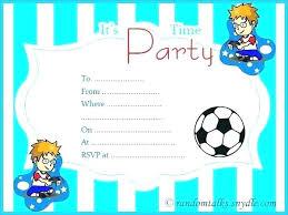 Boy Birthday Party Invitation Templates Free Printable