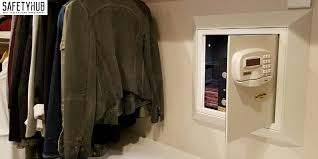 wall safes are most commonly located in a master bedroom closet and this is the first place a thief would check