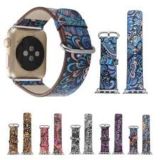 colorful leather watch band strap 42mm for apple watch iwatch series 3 2 1