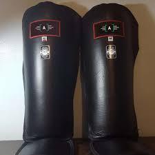 custom boxing shin guard mma shin guards leather gel instep pads leg foot guard muay thai kick