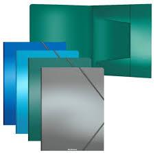 "<b>Папка</b> на резинке <b>Erich Krause</b> ""<b>Metallic</b>"" <b>А4</b>, 600мкм, ассорти ..."