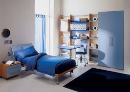 modern home office design displaying. Attractive Small Home Office Design With Natural Brown Oak Wood Modern Grey Kids Bedroom Displaying Blue Painted Plywood Study Desk Under Floating I