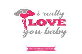 Some valentine's day svg may be available for free. I Really Love You Baby Valentines Day Svg Graphic By Summerssvg Creative Fabrica