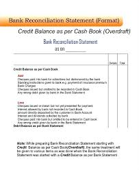 Bank Account Reconciliation Template Excel Statement Sample