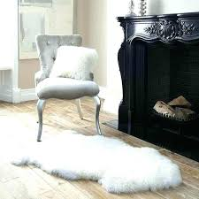 brown faux fur rug impressive sheepskin pertaining to area modern chocolate canada sheeps
