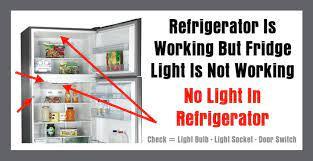 working but fridge light is not working