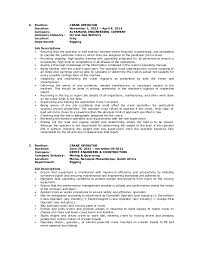 Certified Crane Operator Sample Resume Brilliant Ideas Of Cover