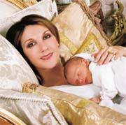 """It was a wonderful, deep, loving, fulfilling feeling,"" says Celine Dion of her pregnancy with long awaited son Rene-Charles, born January 25 - baby1b"