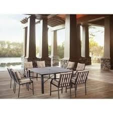 agio international panorama outdoor 9 piece high dining patio set. hampton bay millstone 9-piece slat top patio high dining set with beige cushions- agio international panorama outdoor 9 piece g