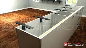 counter overhang support granite bracket countertop posts count granite supports kitchen counter