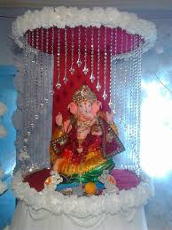 ganpati decoration decoration for pooja pinterest