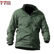 <b>Spring Autumn Military tactical</b> Skin jacket Men Waterproof Quick ...