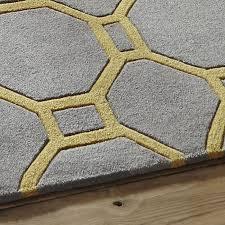 hong kong rugs 4338 grey yellow