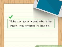 how to make a good speech for school pictures wikihow image titled make a good speech for school step 4