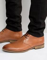 selected homme bolton leather chukka boots