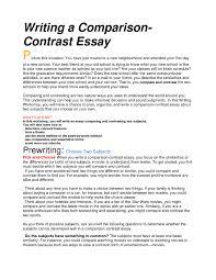 writing comparison essay com writing comparison essay on proposal writing comparison essay