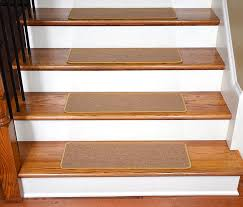 dean flooring l and stick stair treads are available in an array of colors and sizes the st 061512h is a set of 13 camel colored runner rugs made of 100