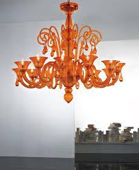 nube 12 l pendant light in orange murano glass