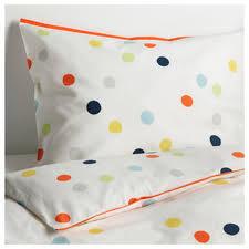 ikea dromland twin duvet cover pillowcase set polka dot multicolour drÖmland