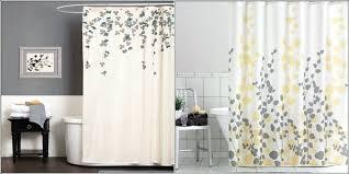 shower curtain rod ideas. Exellent Curtain Unique Shower Curtain Ideas Nature Idea With White  Base And Yellow Gray On Shower Curtain Rod Ideas