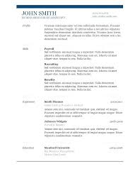 Word 2018 Resume Template Fascinating Resume Free Template Download Best Cv Samples Template Download 28