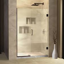 hinged shower door ideas