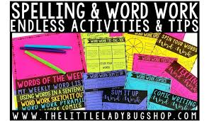 Activities Word Tips For Teaching Spelling And Word Work Activities The Little