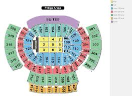 Arco Arena Seating Chart With Seat Numbers Philips Arena Row
