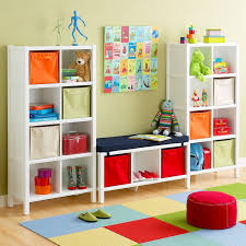 childrens rugs ikea at kansas color dream white wooden shelves with blue seat plus red puff home charming office craft home wall storage