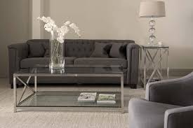 neptune manhattan rectangular glass coffee table