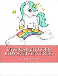 Magical Unicorn Kids Activity Book Coloring Pages Mazes Dot To