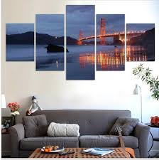 Small Picture 2017 Hot Sell Modern Wall Painting Golden Gate Bridge Night Home