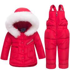 <b>2018 Newborn Winter Jackets</b> Hoodies Duck Down Ski Suit For Girl ...